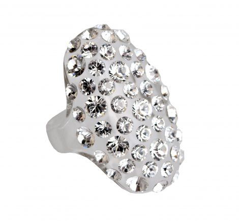 Anello ovale pavè jewel