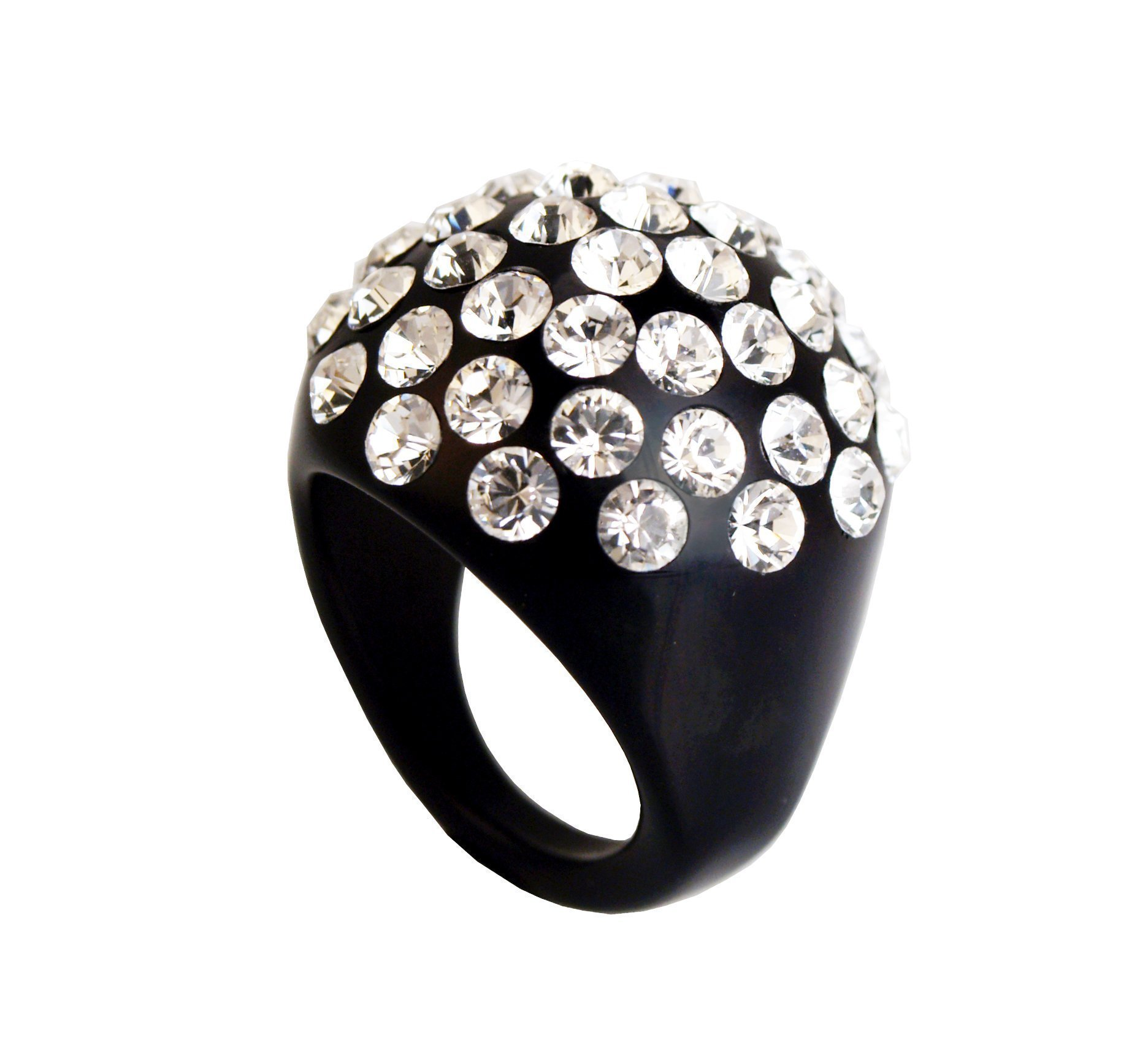 ring lucite with swarovski