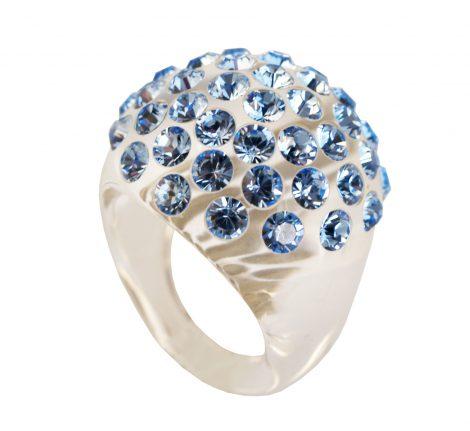 anello plexiglas e swarovski