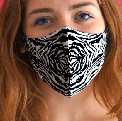 Mascherina moda Zebra Strass