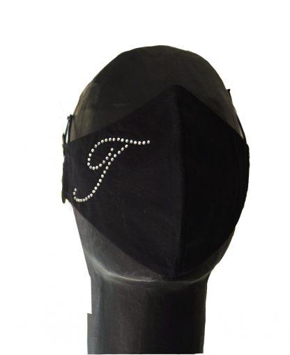 Lettera personalizzata T strass su mascherina