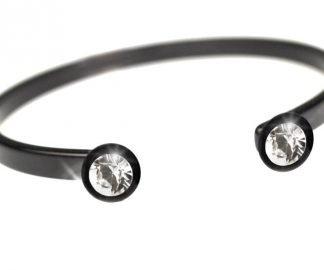 Bracciale nero mini punti luce