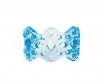 Bracciale traforato polsino fluo blu