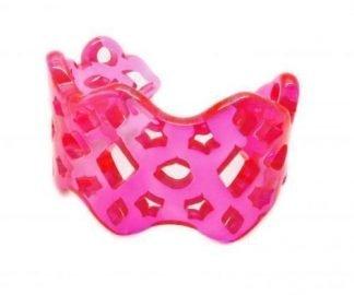 Bracciale traforato plexiglass fluo rosa