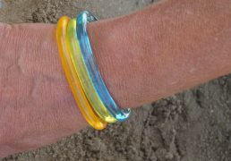 Fluo thin bar bracelet
