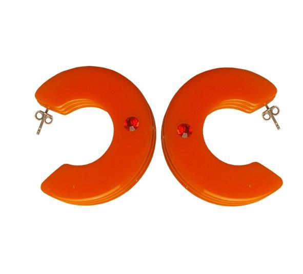 Orecchini cerchio gilda arancio