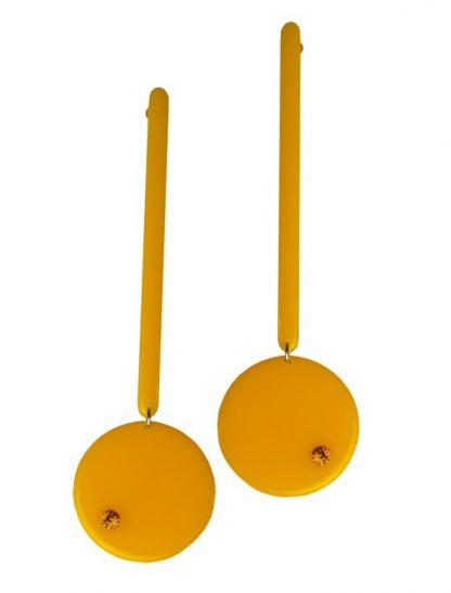 Orecchini pendenti vintage giallo ocra