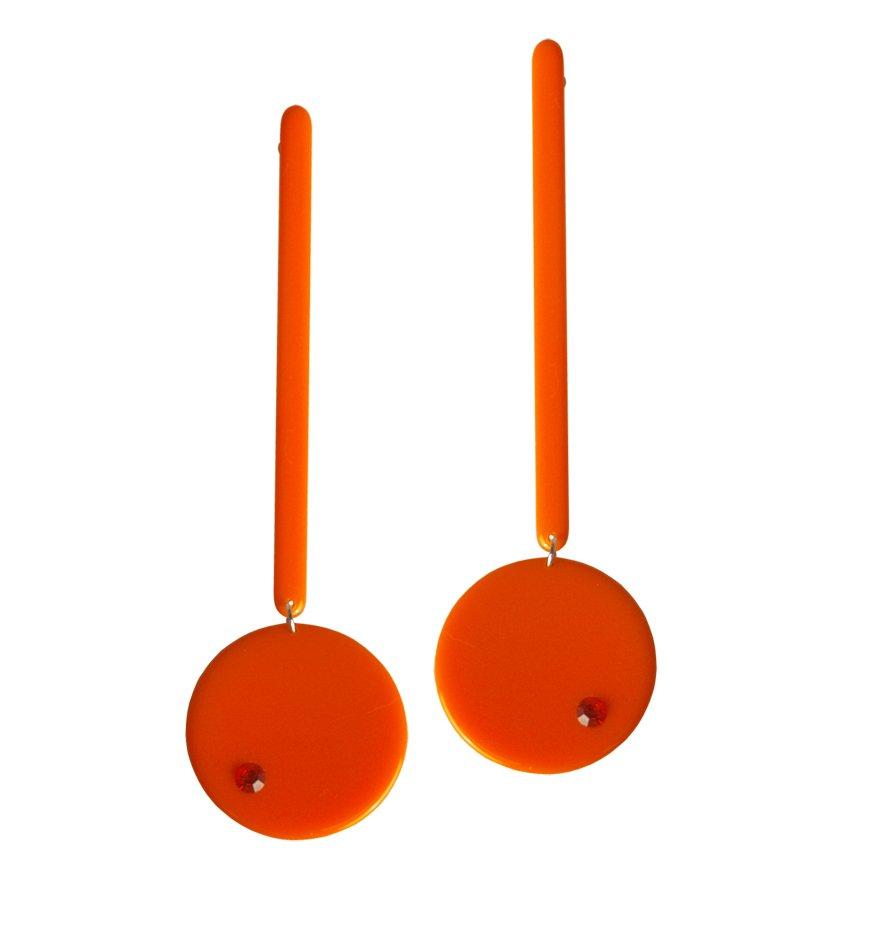 Orecchini paco rabanne arancio