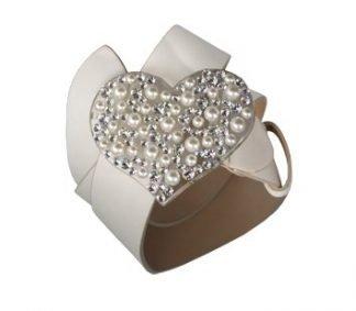 Cintura cuore perle pavè