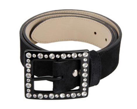 Cintura fibbia gioiello cornice rettangolo strass