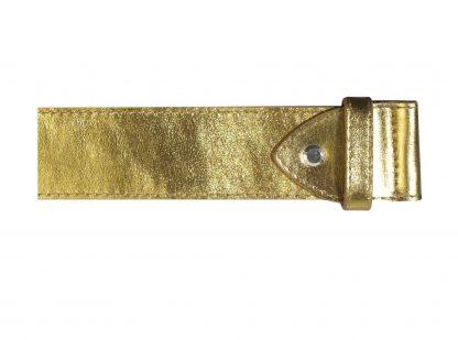 cintura pelle oro