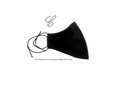 Mascherina cotone nero lavabile