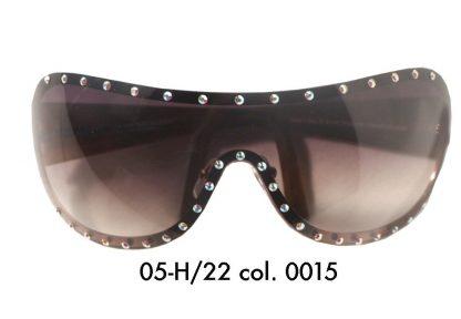 Occhiale sole mascherina con cristalli grigi