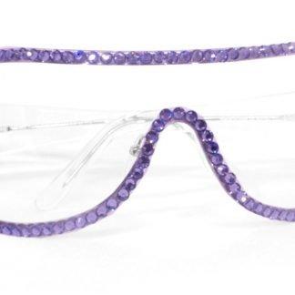 Mascherina con cristalli viola