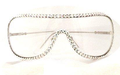 Mascherina occhiali Swarovski crystal