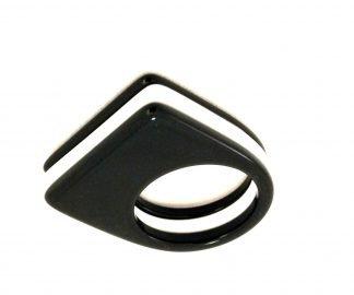 anello bianco nero optical style