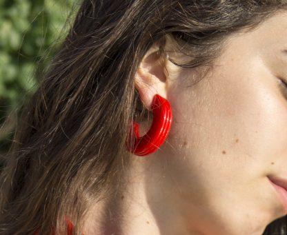 orecchino gilda rosso