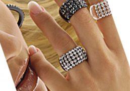 anello dama pavè swarovski