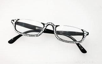 occhiale nero lettura swarovski